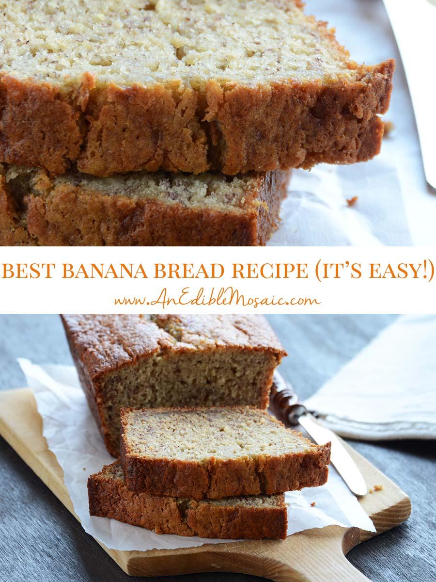 Best Easy Banana Bread Recipe Pin