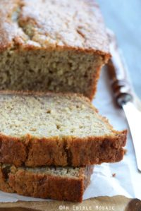 Classic Banana Bread Recipe on Bread Board