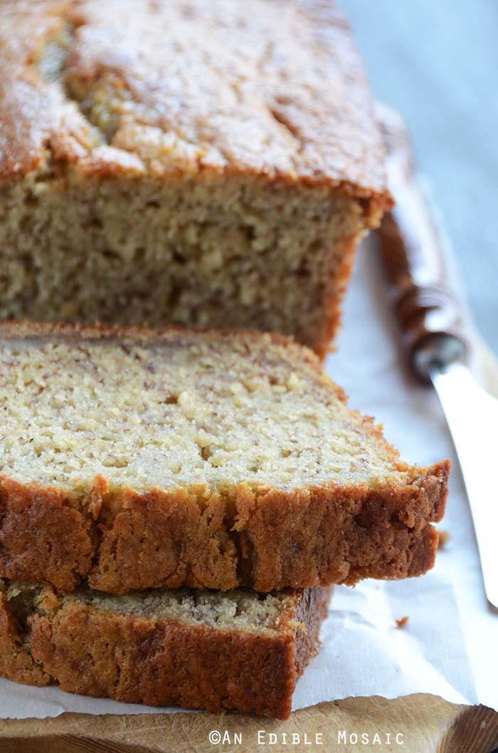 Classic Banana Bread Recipe on Bread Board