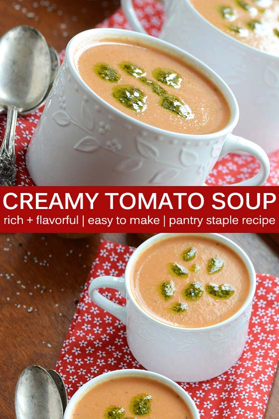 Creamy Tomato Soup Recipe Pin