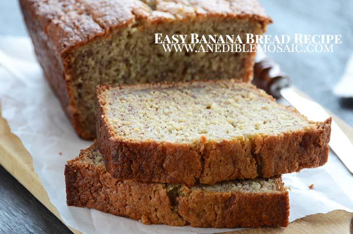 Easy Banana Bread Recipe with Description