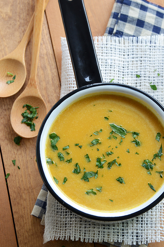 Brown Sugar Sweet Potato Pumpkin Soup