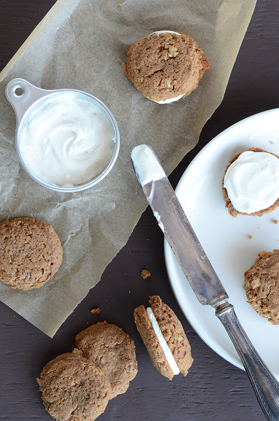 Peanut Butter Banana Bread Whoopie Pies {7 Days of Festive Holiday Treats}