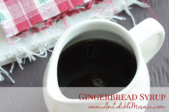 Gingerbread Syrup with Description