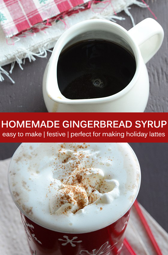 Homemade Gingerbread Syrup Recipe Pin