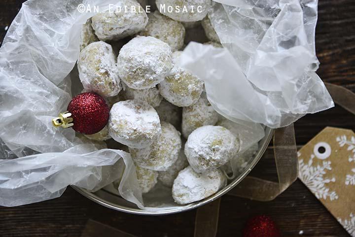 Russian Tea Cakes Recipe in Cookie Tin