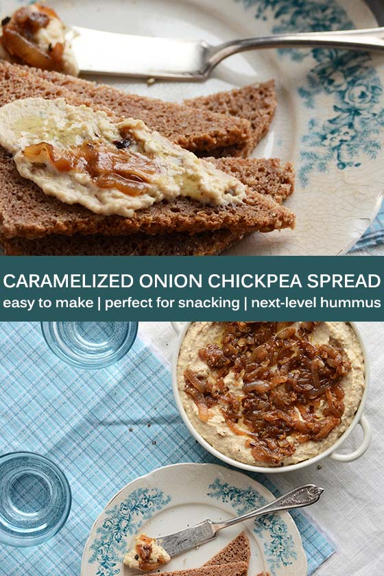 Caramelized Onion Chickpea Spread Pin