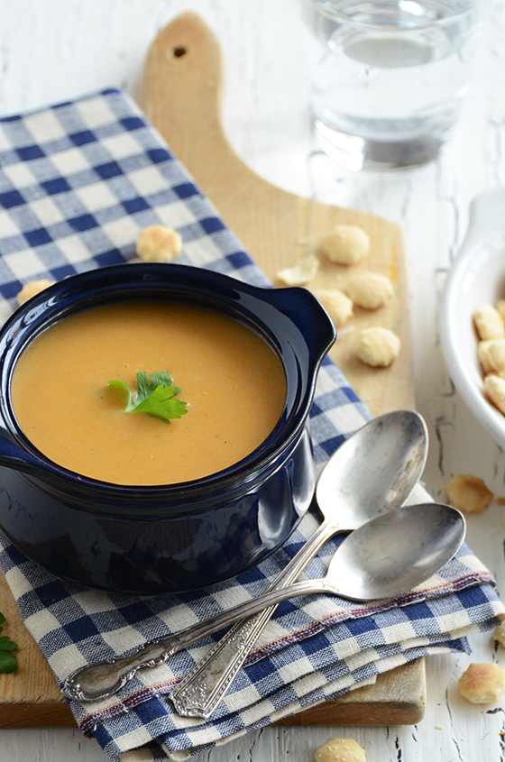 Roasted Red Pepper Smoked Gouda Soup Recipe