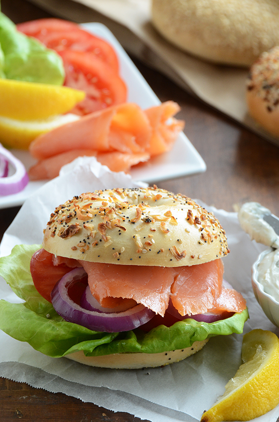 BLT {Butter Lettuce, Lox + Tarragon Schmear Bagel Sandwiches} & An Announcement