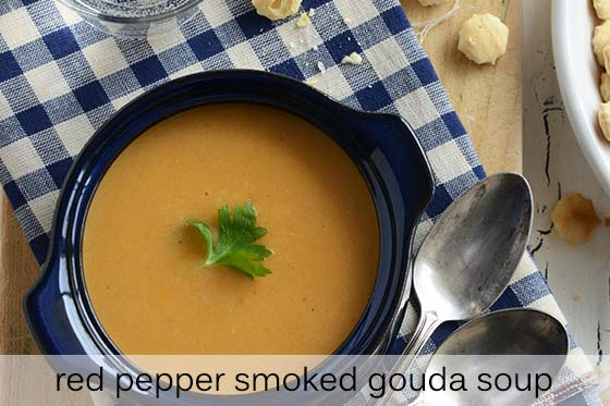 Red Pepper Smoked Gouda Soup Recipe with Description