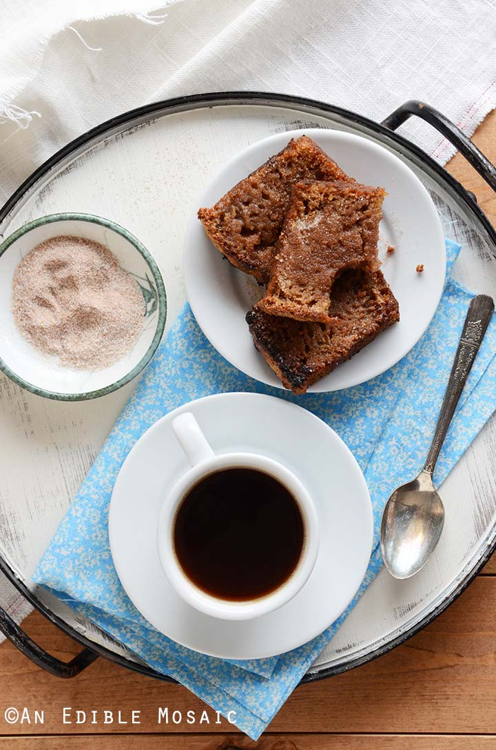 Overhead View of Homemade Cinnamon Bread Recipe