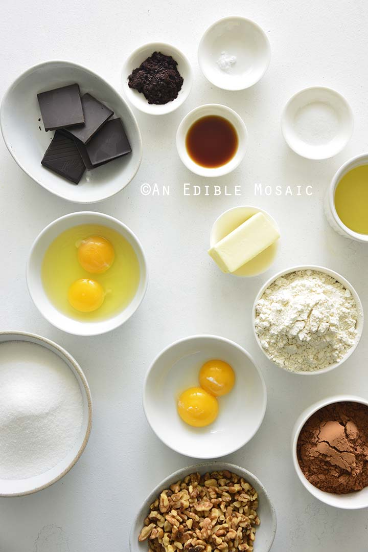 Ingredients for the Best Chewy Brownies