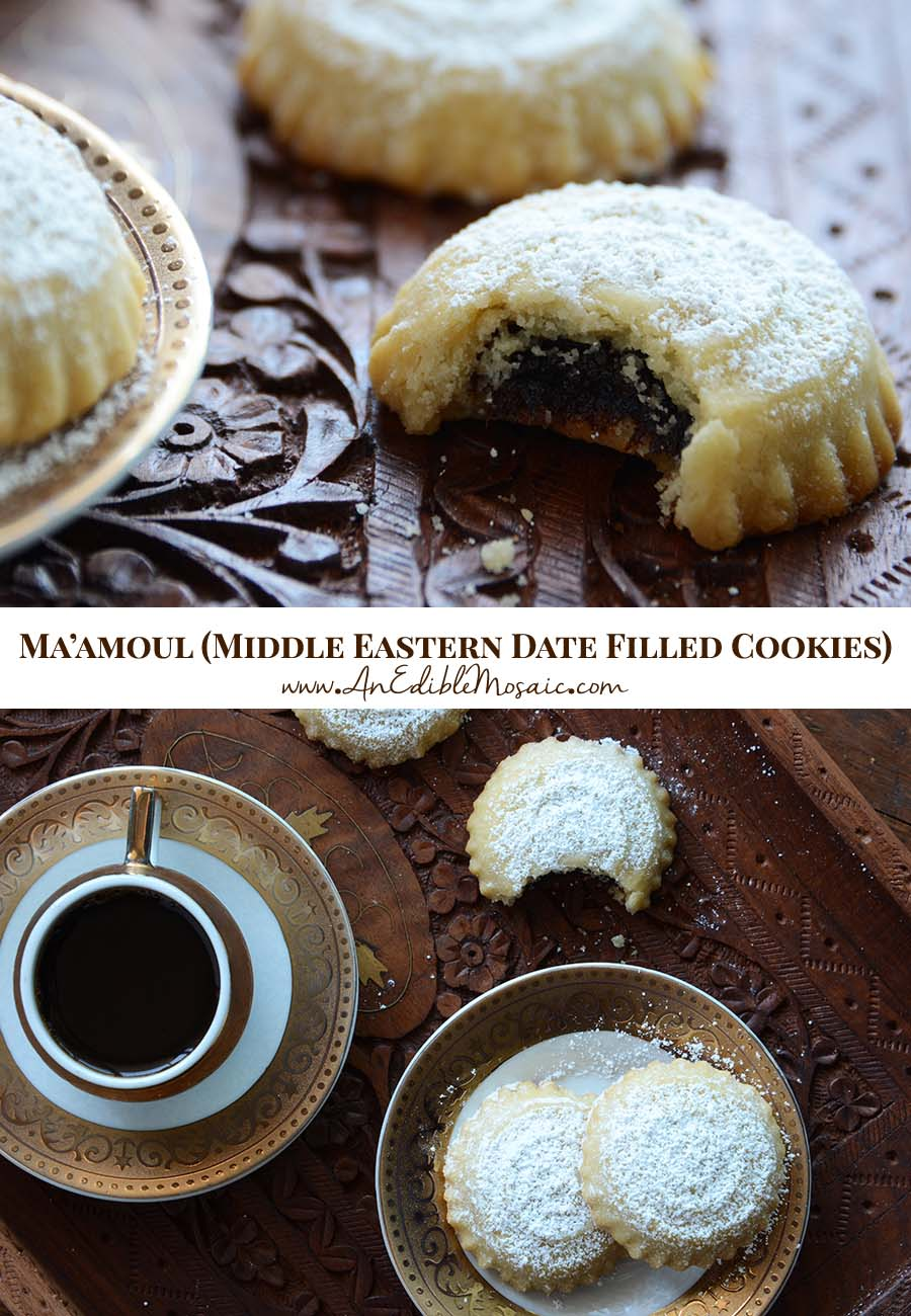 Maamoul (Middle Eastern Date Filled Cookies) Pin