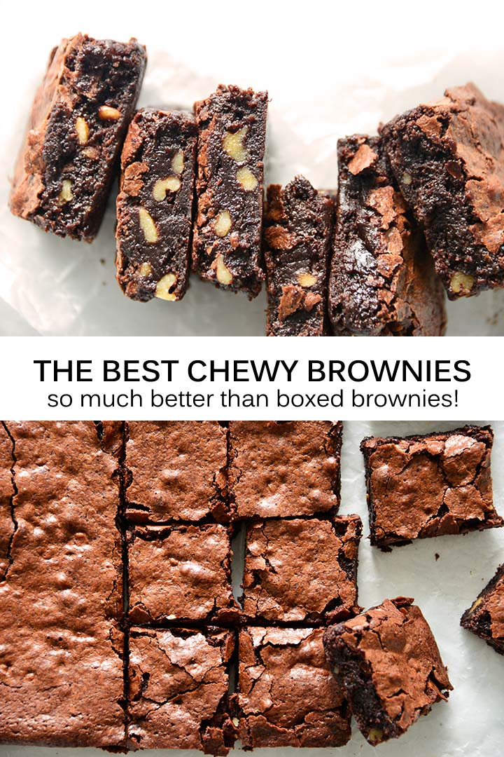 The Best Chewy Brownies Recipe Pin