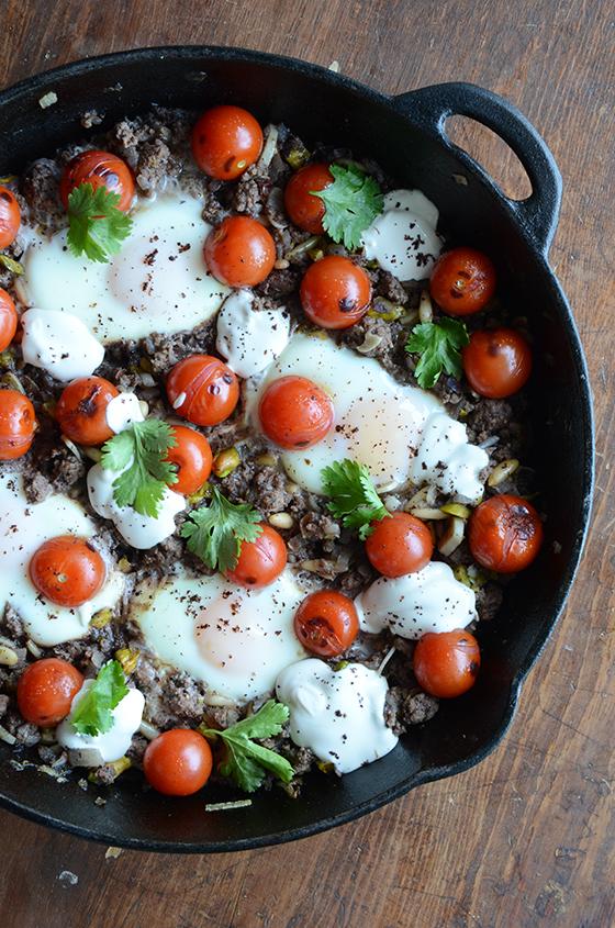 Braised Eggs with Lamb, Tahini, & Sumac(small)