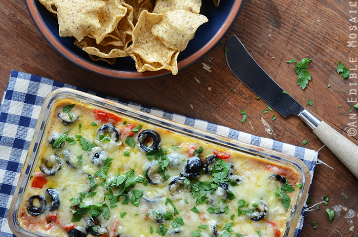 Cheesy Warm Bean Dip 3