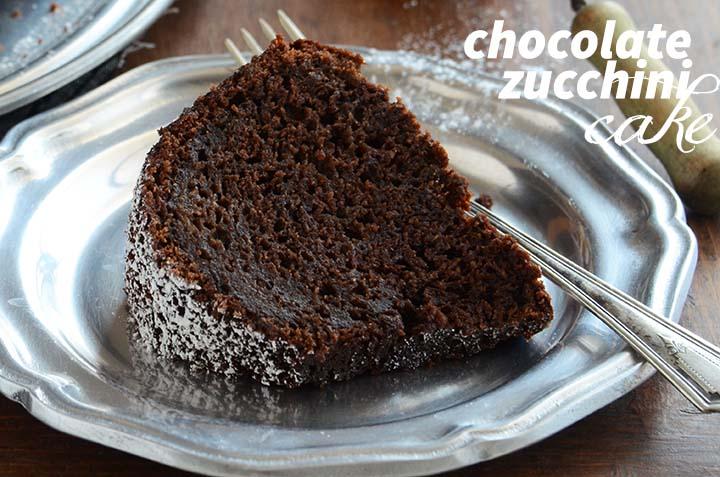 Chocolate Zucchini Cake with Description