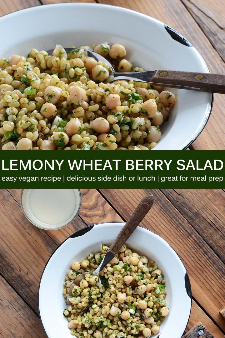Lemony Wheat Berry Salad Recipe Pin