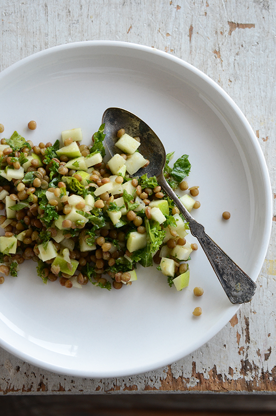 Pardina Lentil, Green Apple, and Kale Salad