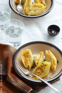 Savory Pumpkin and Cheese Stuffed Shells