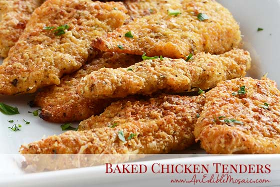 Baked Chicken Tenders with Description