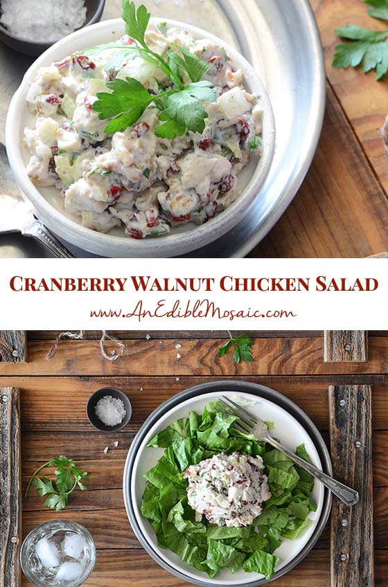 Cranberry Walnut Chicken Salad Recipe Pin