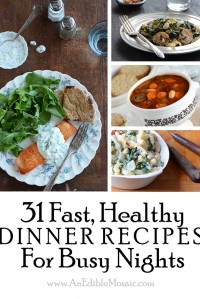 31 Fast, Healthy Dinner Recipes for Busy Nights {And Food Blogger Cookbook Swap Announcement}