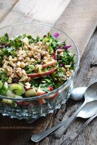 Apple-Walnut Rainbow Chard Salad