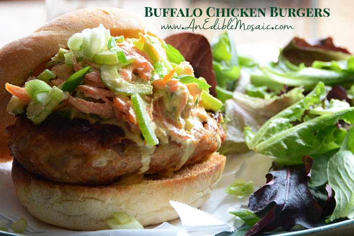 Buffalo Chicken Burgers with Description