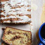 Close Up Top View of Banana Coffee Cake Recipe