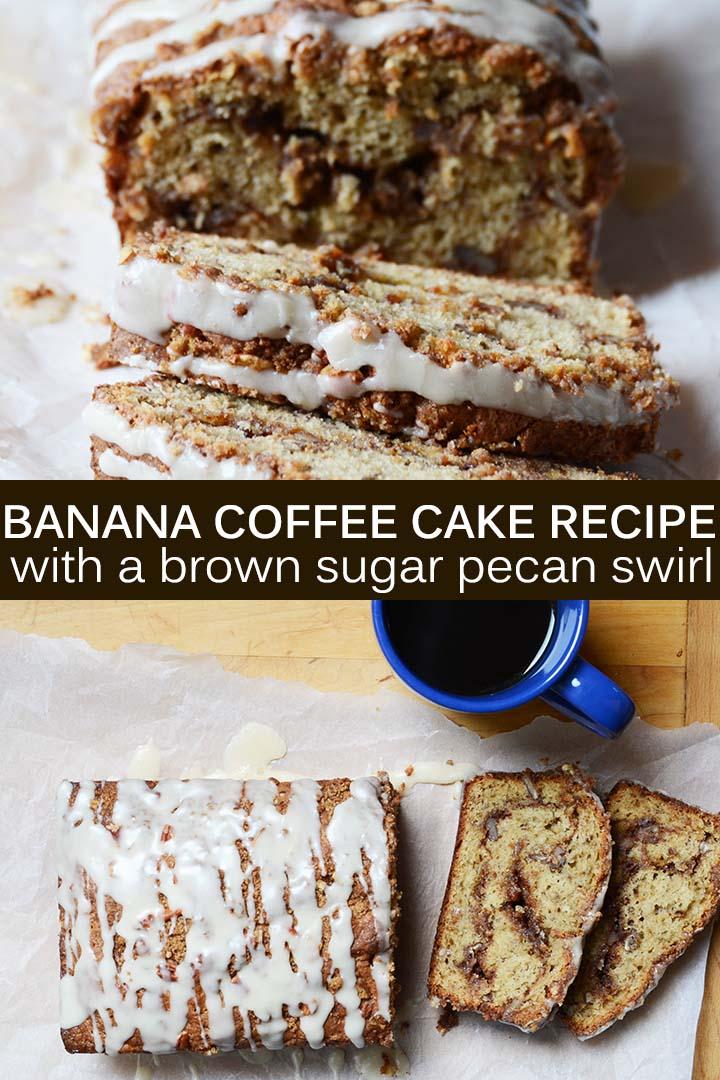 Banana Coffee Cake Recipe Pin