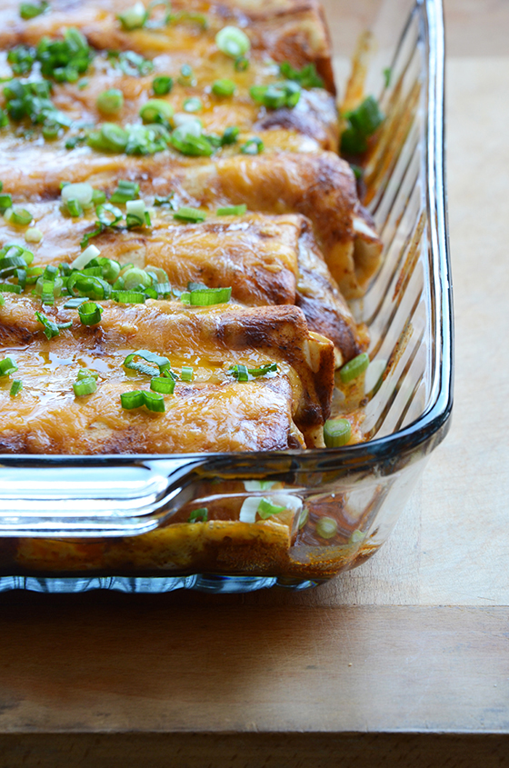 Chicken, Corn, and Bell Pepper Enchiladas 2