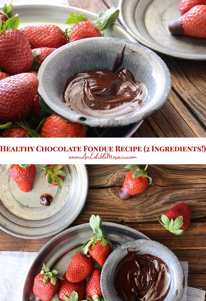 Healthy Chocolate Fondue Recipe Pin