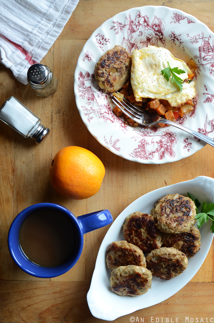 Apple-Onion Chicken Breakfast Sausage {Paleo} 2