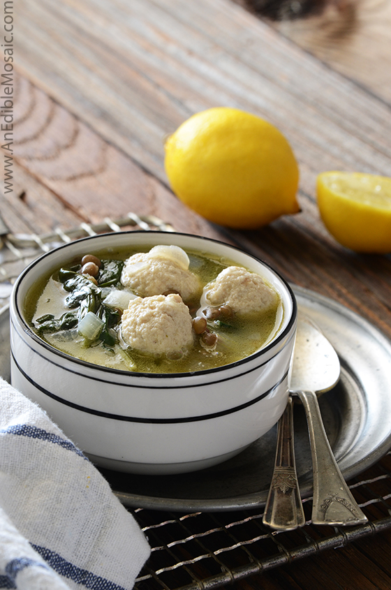 Lentil Soup with Spinach and Mini Chicken Meatballs 2