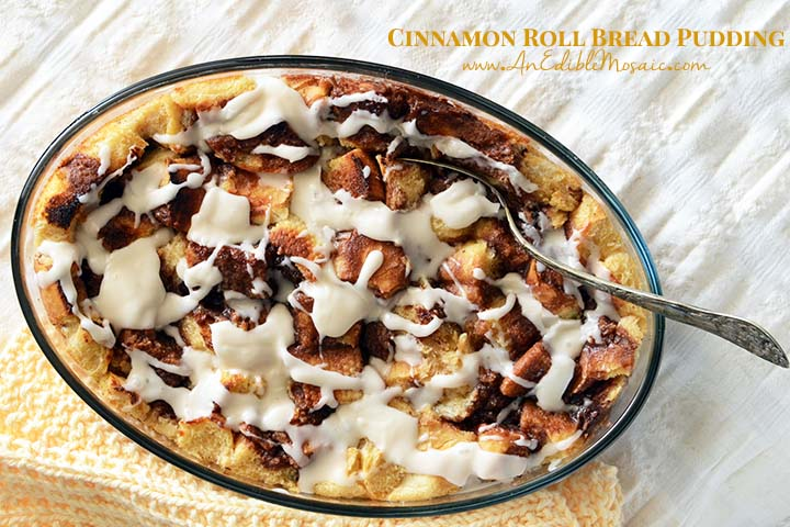 Cinnamon Roll Bread Pudding with Description