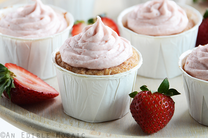Fresh Strawberry Cupcakes with Fresh Strawberry Frosting 2