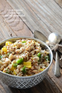 Tri-Color Quinoa, White Bean, and Bell Pepper Salad {And a $50 Bob's Red Mill Gift Card Giveaway}
