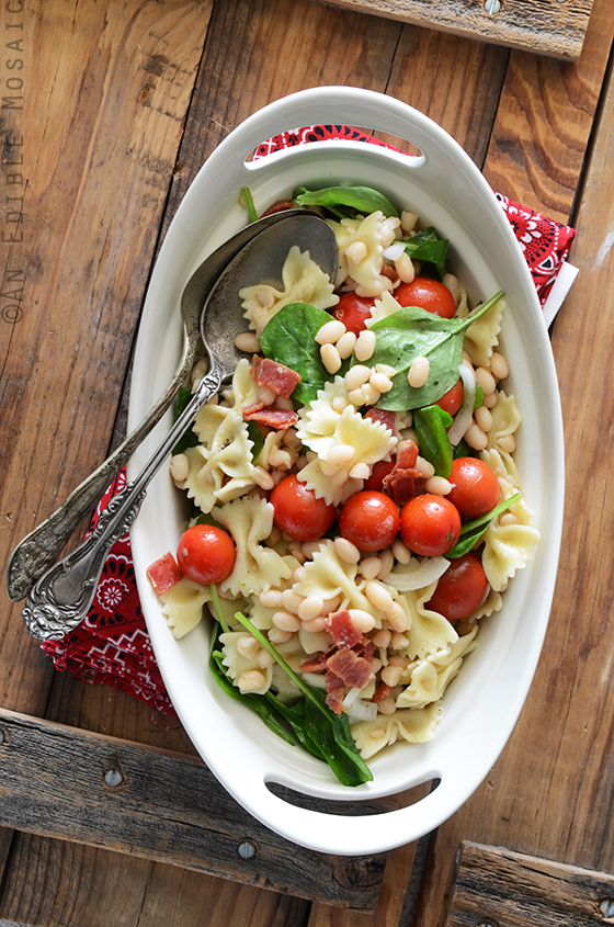 BLT Pasta Salad with White Beans 2