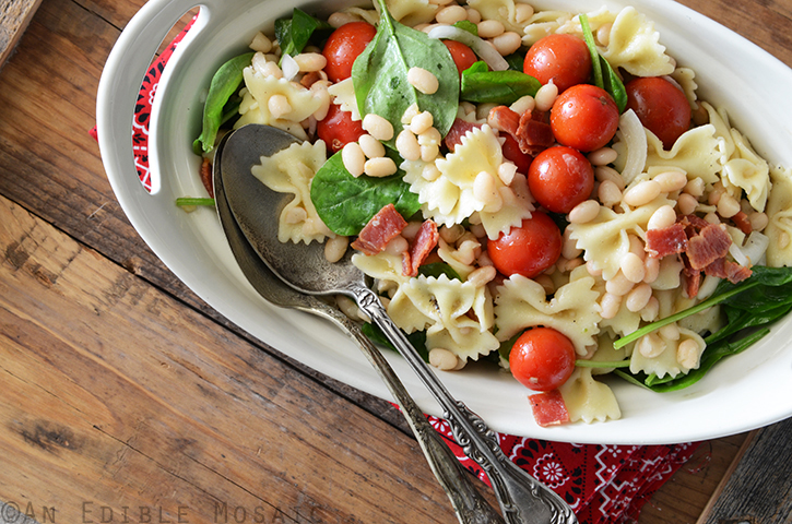 BLT Pasta Salad with White Beans 3