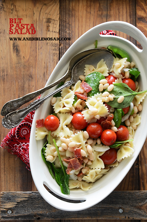 BLT Pasta Salad with White Beans