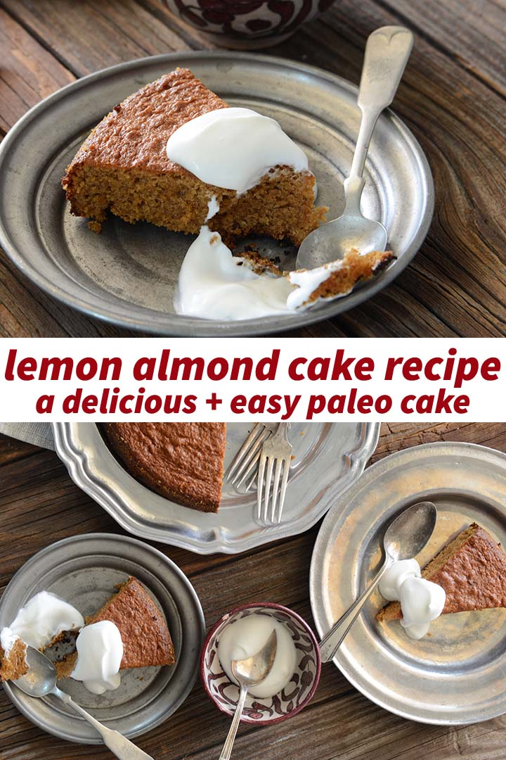 Lemon Almond Cake Recipe Pin