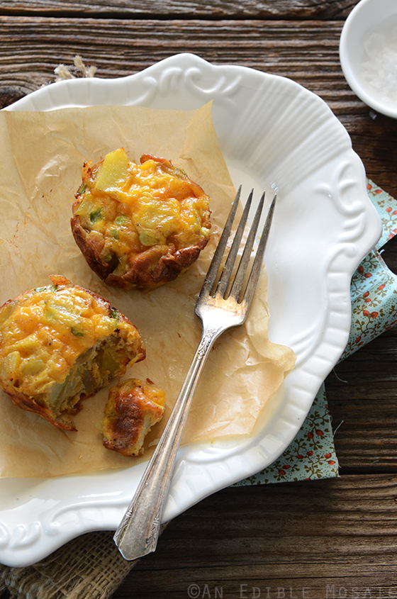 Mini Potato Frittatas with Cheddar and Scallion 2