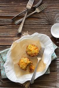 Mini Potato Frittatas with Cheddar and Scallion