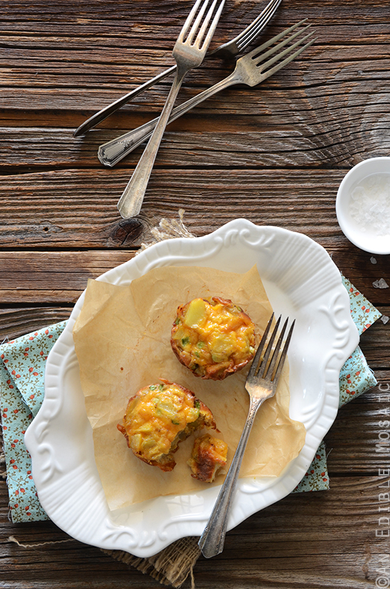 Mini Potato Frittatas with Cheddar and Scallion