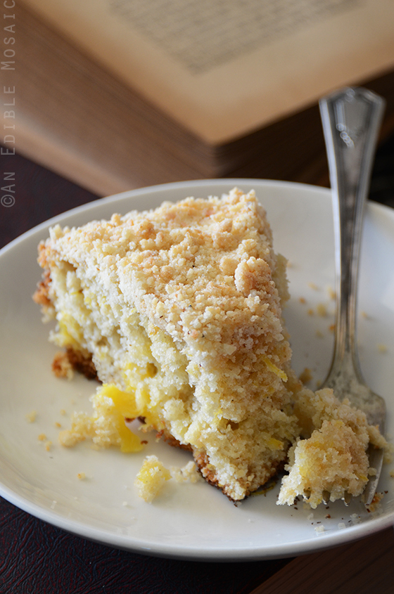 Pineapple Cardamom Coffee Cake with Coconut Crumb Topping 2