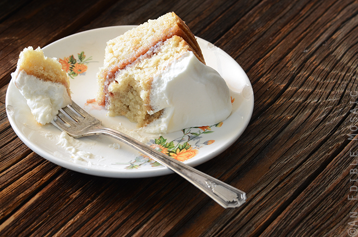 Strawberry-Filled Vanilla Cake with {Stabilized} Whipped Cream Frosting 4