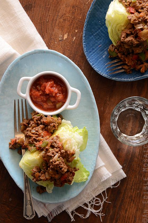 Vegetable Beef Taco Wedge Salad {Paleo} 2