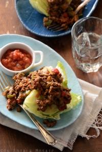 Vegetable Beef Taco Wedge Salad {Paleo}