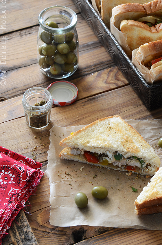 Za'atar-Spiced Chicken and Bell Pepper Sandwiches with Labneh 2